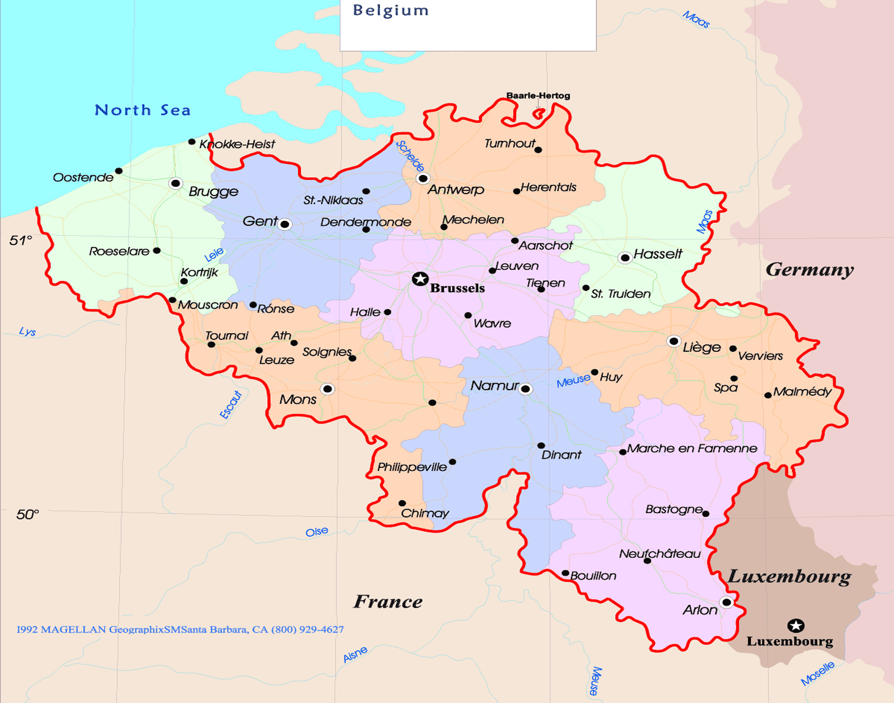 maps belgium – Map of Belgium with Cities