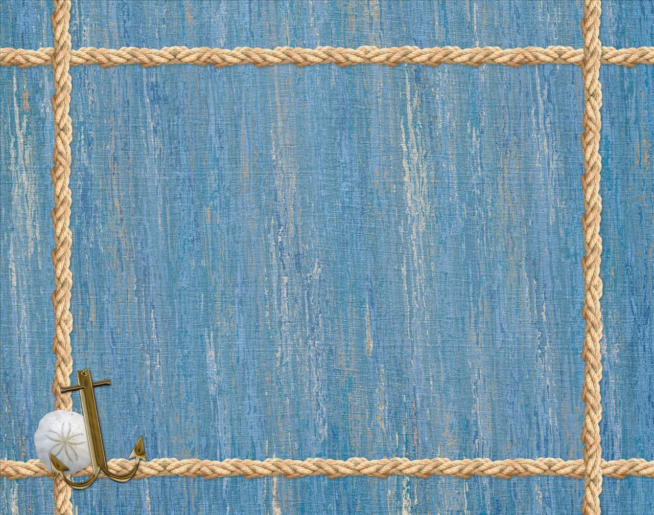 çerçevr on Pi... Light Blue Anchor Wallpaper