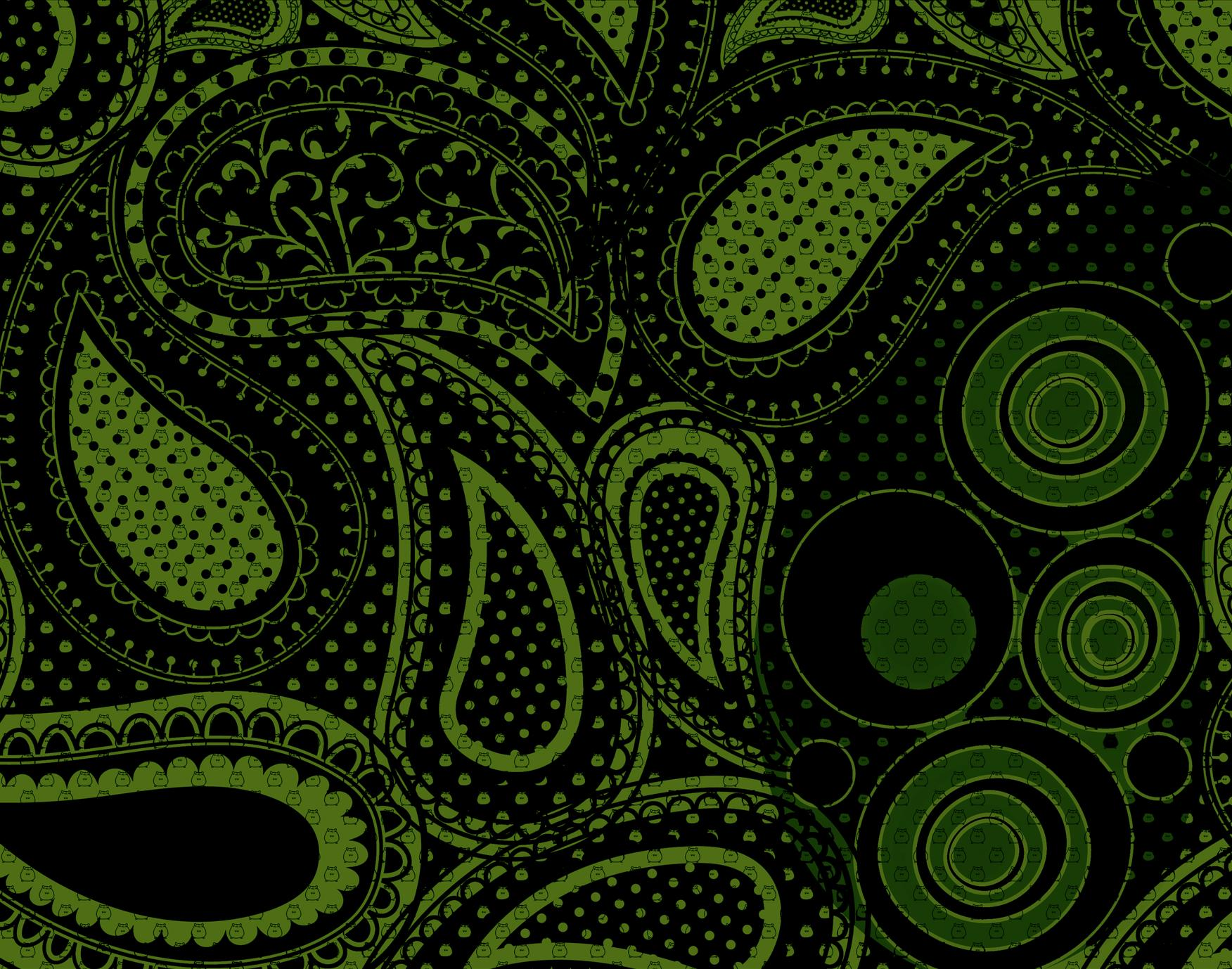 Green black pattern design patterns for Green design