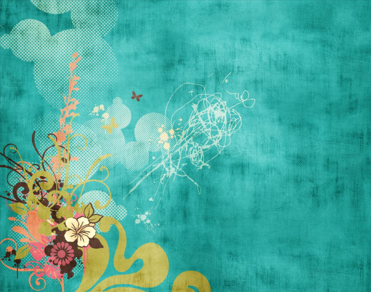 turquoise swirls design wallpapers - photo #21