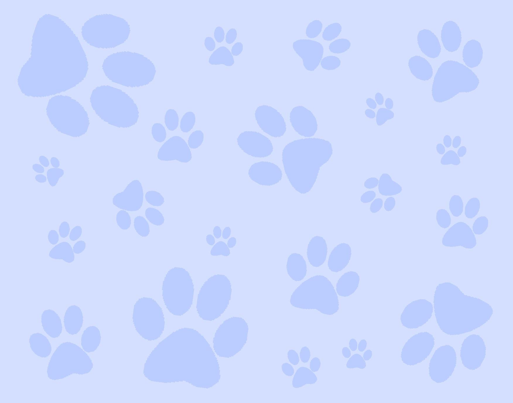 Blue Paw Print Wallpaper
